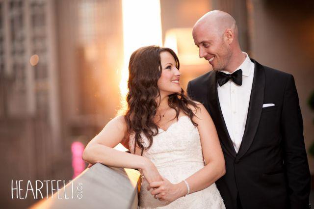 bride & groom smiles