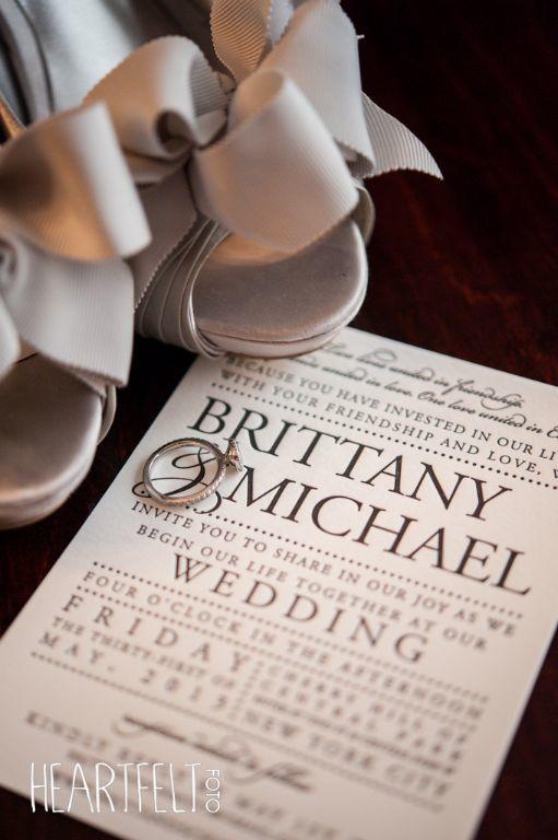 shoes & invitation photo