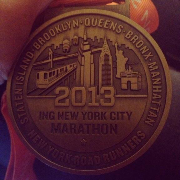 An ING NYC Marathon Finisher!